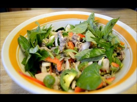 How to make Plea Sach Ko (Cambodian Beef Ceviche/Beef Salad)