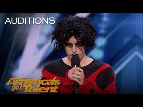 Oliver Graves: Gothic Comedian Slays Hilarious Set, Gets Emotional - America's Got Talent 2018
