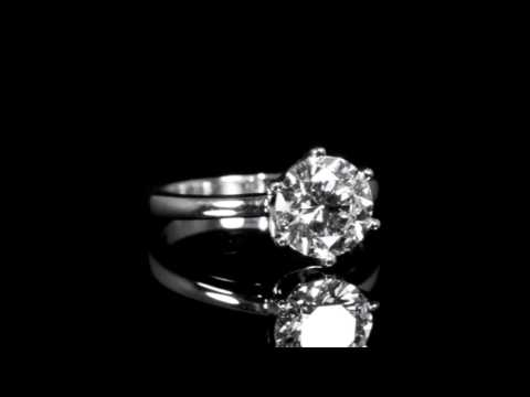 EGL Certified 2.01ct Round Brilliant 'Ideal' Cut Diamond Ring