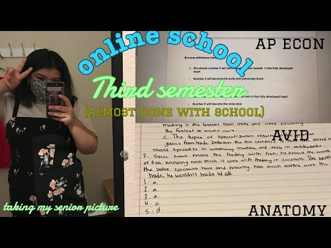 gibbie vlogs ep.7  a week of online school( third semester 😳...almost done with senior year)