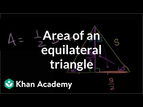 Area of equilateral triangle video khan academy ccuart Image collections