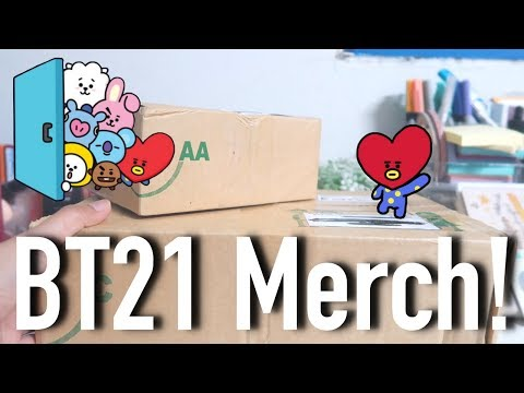unboxing BT21 tata merch