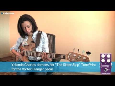 "In this video Yolanda Charles demoes her ""The Sister Slap"" TonePrint for the Vortex Flanger pedal from TC Electronic"