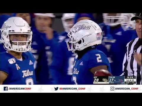 2019 American Football Highlights - Tulsa vs UCF