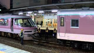 リゾートエクスプレスゆう 臨時列車 水戸駅電源車連結作業 (H26.3.24)