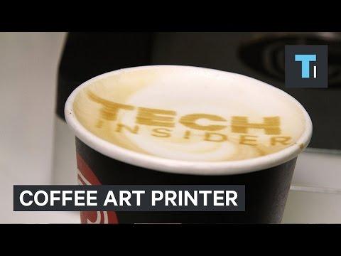 當3D列印技術發展到咖啡拉花上時,人人都是拉花大師~