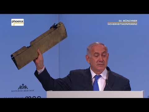 Rede von Benjamin Netanjahu bei der 54. Münchner Sich ...