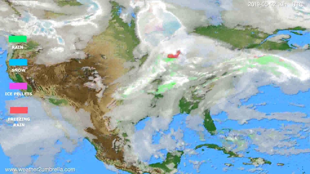 Precipitation forecast USA & Canada // modelrun: 00h UTC 2019-04-30