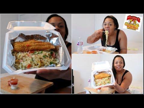 Fish & Pasta Mukbang | Burping | Smacking | 4k Subscribers!! | Ruth's Chicken & Waffles Killeen