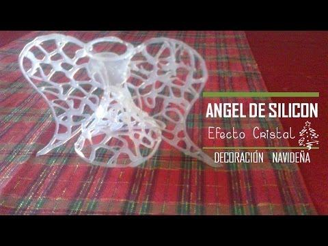 diy - angioletto in silicone effetto cristallo