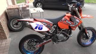 1. KTM 450 exc SM 2004 full akrapovic exhaust