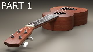 http://www.LittleWebHut.com This is the first in a 4 part video series that demonstrates how to use Blender to make a ukulele. This ukulele has a lot of different parts so a lot of modeling is demonstrated. Blender version 2.77a was used for this tutorial. This video shows techniques that may be helpful to beginners and intermediate users.Link to wood image http://www.littlewebhut.com/images/ukulelewood.jpg Blender website http://www.blender.org