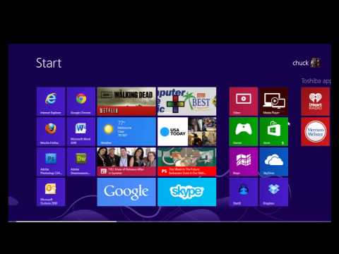 Windows 8 START BUTTON -- just like Windows 7 or XP.