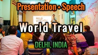 Travel Talk w/ Alex Chacon at Zostel in Delhi India