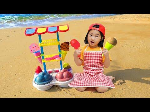 Boram fait semblant de jouer à Ice Cream Shop