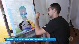 Artista bauruense pede ajuda para expor obras na Austrália