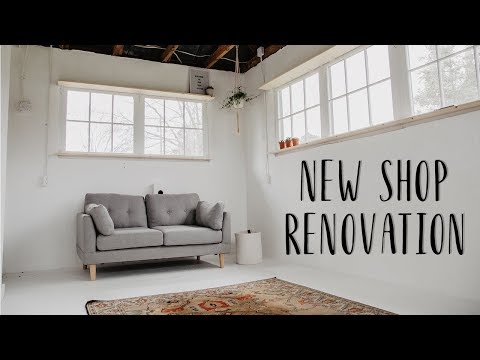 Convert A Dairy Barn Into a Wood Shop / Office / Studio | EP: 2 Painting Wiring & Shelves