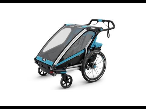 Thule Chariot Sport1 Fahrradanhänger inkl. Buggy- und Fahrrad-Set Blue Video