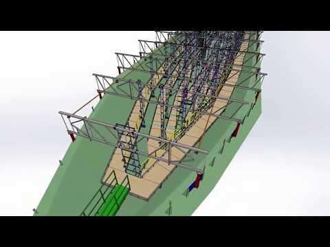 Леса подвесные для изготовления корпуса судна из композитных материалов