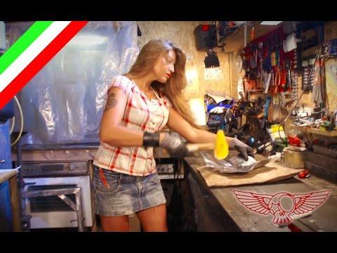 La battitura della lamiera fai da te - ep05 - insegna alla tipa ad usare l'attrezzo