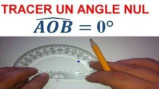 Maths 6ème - Les Bases De La Géométrie : Angle nul Exercice 9