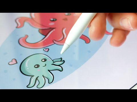 Doodle Octupus On IPad Pro  | Adobe Draw Illustrator - Apple Pencil