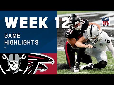 Raiders vs. Falcons Week 12 Highlights | NFL 2020
