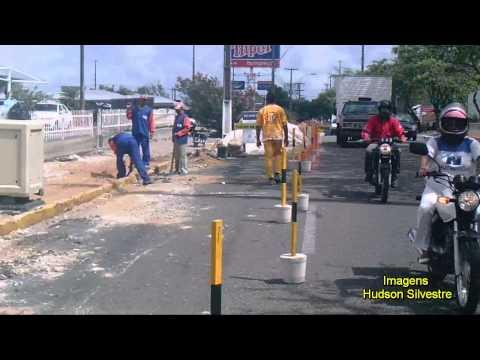 Redução de faixa na av. Prudente de Morais altura do Hiper sentido bairro