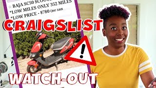 9. Scooters on Craigslist: What to look out for?
