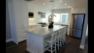 Whole House Remodel with Custom White Cabinets in Irvine