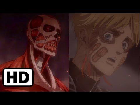 Armin Colossal Titan Transform HD アルミン 超大型巨人 | Attack on Titan Season 4