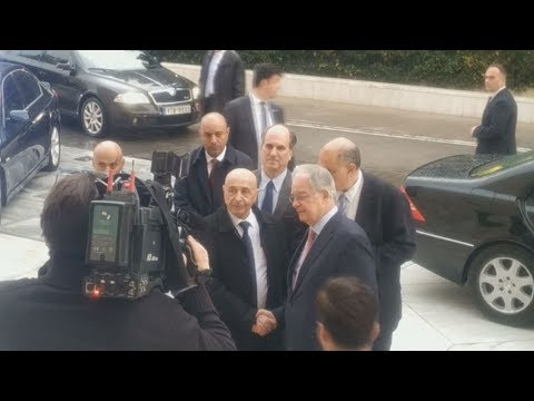 Άφιξη του προέδρου της  Εθνοσυνέλευσης της Λιβύης, Aguila Saleh Eissa στη Βουλή