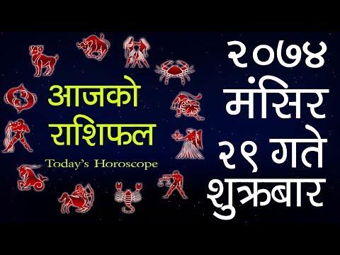 (Aajako Rashifal 2074 Mangsir 29, Today's Horoscope...- 12 minutes.)