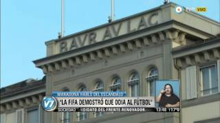 Visión 7 - Maradona habló del escándalo de la FiFA, maradona,diego maradona,maradona goals,maradona skills