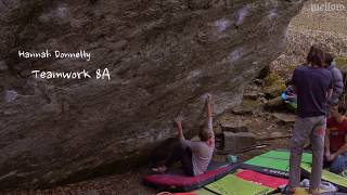Uncut: Hannah Donnelly - Teamwork (8A/V11) by mellow