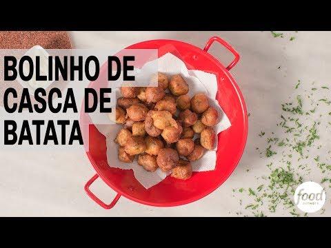 BOLINHO DE CASCA DE BATATA | RESTÔ FOOD NETWORK