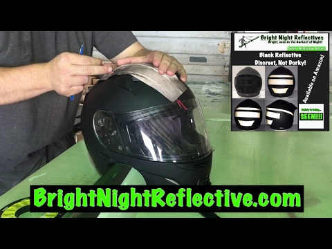 Be Seen!  Black reflective accent added to helmet (instructional) Bright Night Reflective tape