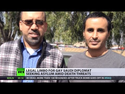 'It's - He could be executed at home, has already received death threats, and is pinning his hopes on the US giving him shelter. But an openly gay Saudi diplomat who...