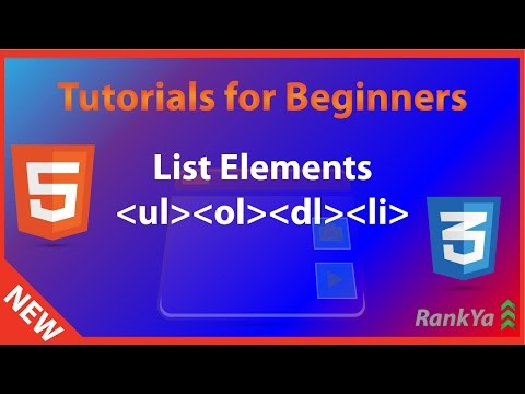 HTML Tutorials For Beginners List Elements