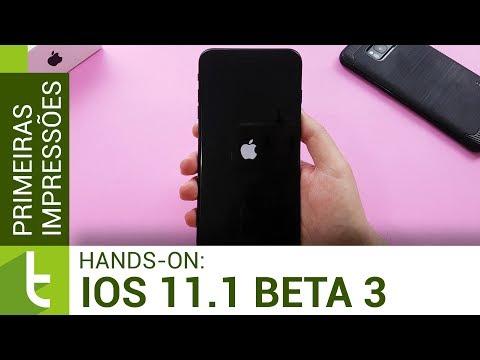 Primeiras impressões do iOS 11.1 beta 3  Review do TudoCelular