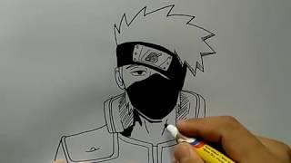 cara menggambar kakashi dengan waktu normal