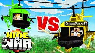 Minecraft Helicopter 1V1 battle.. (Hide or WAR #5)