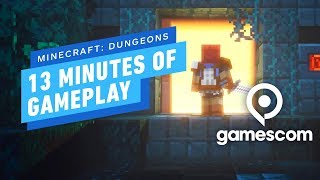 13 Minutes of Minecraft: Dungeons Gameplay - Gamescom 2019 by IGN