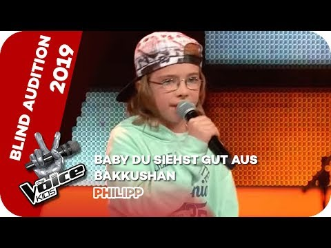 Bakkushan - Baby Du Siehst Gut Aus (Philipp) | Blind Auditions | The Voice Kids 2019 | SAT.1