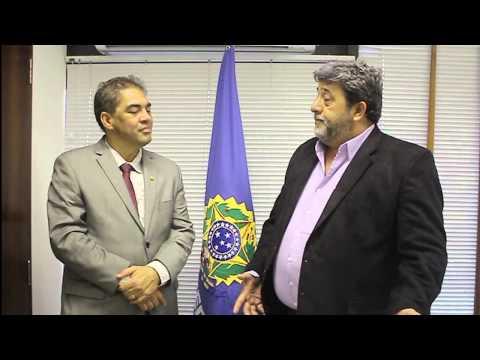Senador Hélio José recebe Josaquim Miranda Prefeito de Teresina de Goiás