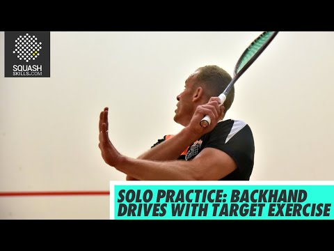 Squash tips: Solo practice with Simon Parke - Backhand drives with target