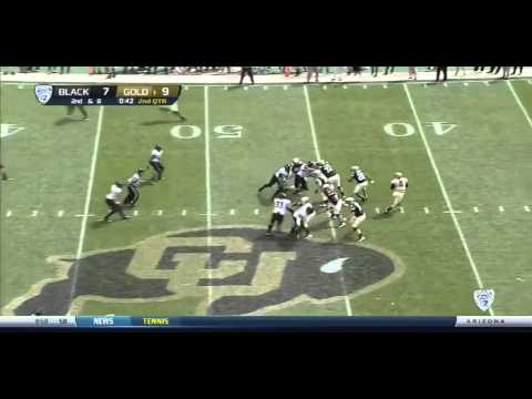 Paul Richardson (WR Colorado) vs Black (2013 Spring Game) video.