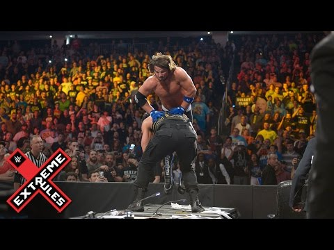 AJ Styles vs. Roman Reigns - Extreme Rules Match: WWE Extreme Rules 2016  on WWE Network