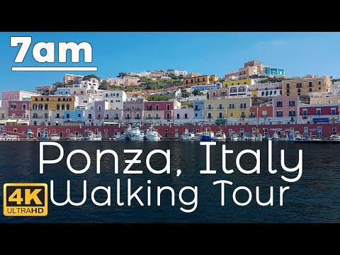 7am Ponza, Italy Walking Tour in 4K