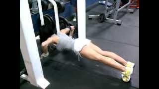Chest exercises - Smith machine ladder push ups